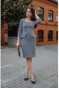 Платье с баской прилегающего силуэта Donna Saggia DSP-395-97