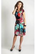Трикотажное платье TopDesign A6 038 (весна-лето 2016)