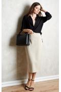 Чёрная женская рубашка TopDesign A20 007