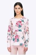 Летняя блузка с цветочным принтом Emka B2298/petel