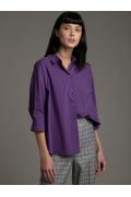 Фиолетовая блузка-рубашка Emka B2540/global