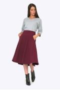 Расклешенная юбка бордового цвета Emka S527/marley