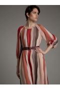 Полосатое легкое шифоновое платье Emka PL1001/kinda