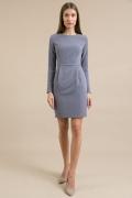 Серое приталенное платье Emka PL923/suave