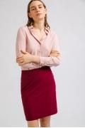Короткая юбка-карандаш бордового цвета Emka S202-50/pelican