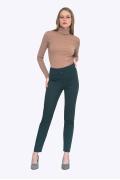 Зелёные брюки облегающего силуэта Emka D052/alberi