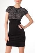 Комбинированное платье Golub | П116-1182-1180