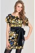 Прямое атласное платье Donna Saggia