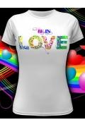 Женская клубная футболка Be in love
