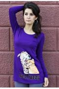 Фиолетовый женский джемпер 417-2