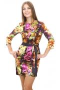Цветное атласное платье | DSP-33-14