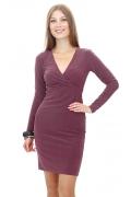 Трикотажное платье с запахом | DSP-34-22t