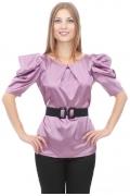 Сиреневая блузка из атласа | DSB-02-17