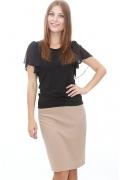 Бежевая юбка-карандаш | DSU-06-24t
