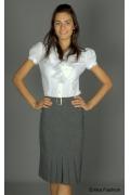 Прямая юбка серого цвета | 146-comanche
