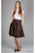 Коричневая юбка Emka Fashion | 276-nelly