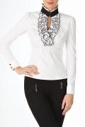 Белая офисная блузка Б768-1324