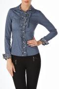 Офисная блузка со вставками из шифона | Б779-1271-1174