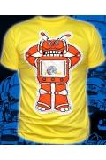 Мужская футболка TV Robot (спецэффект Hand Made)