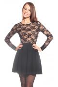 Чёрное кружевное платье Donna Saggia | DSP-39-4t