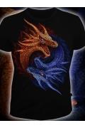Клубная мужская футболка Драконы Инь и Янь