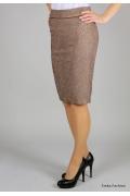 Стильная золотистая юбка Emka Fashion | 275-60/magda