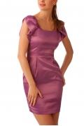 Платье из лилового атласа | П137-1361