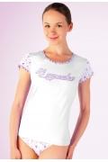 """Женская футболка """"Hi cupcake"""" Abili LVS-1205"""