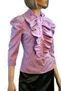 Сиреневая блузка Golub с жабо | Б766-1214