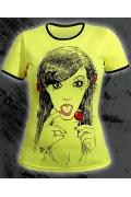 Женская футболка лимонного цвета Chupa Chups