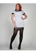 Белое короткое платье Chertina&Durre | 0014