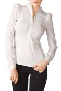 Белая офисная блузка / Б614-724