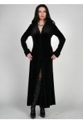 Длинное черное платье на пуговицах | 0181