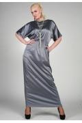 Длинное серебристое платье Chertina&Durre | 9805