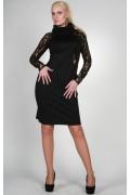 Черное платье Chertina&Durre с воротником хомут | 0481