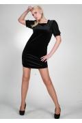 Черное платье с квадратным вырезом | 0442