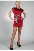 Красное атласное платье | 9806