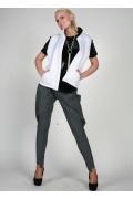 Белая женская жилетка от Chertina&Durre | 0168
