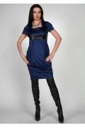 Стильное темно-синее платье Chertina&Durre | 0174