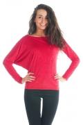 Асимметричная блузка брусничного цвета | DSB-11-34t