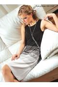 Недорогое черно-белое платье V&V | 1323.17/22 P