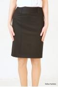 Прямая юбка черного цвета | 213-NOBI