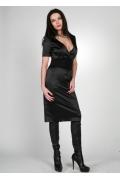 Черное атласное платье Chertina & Durre | 0118