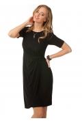 Чёрное трикотиновое платье | П154-237-1576