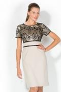 Комбинированное платье Remix | 1725