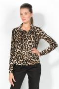 Леопардовая блузка с длинным рукавом | 3612