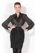Прозрачная блузка в горошек | 4663