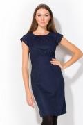 Темно-синее платье Remix | 1752