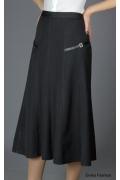 Длинная юбка темно-серого цвета | 108-fss