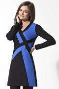 Черно-синее платье-туника | B2 129